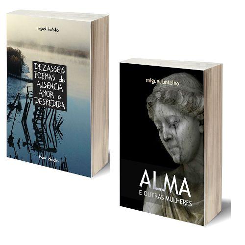 """Miguel Botelho brindou-nos com dois novos livros, que foram lançados no passado dia 22 de abril, em Lisboa.  Dezasseis Poemas de Ausência, Amor e Despedida são a história do amor e da vida ou, nas palavras do autor: """"O amor aspira à implacável delicadeza do ocaso"""".  Na sua nova coletânea de contos, Alma e Outras Mulheres, Miguel Botelho traz-nos até ao mundo das mulheres, as mulheres da sua vida."""