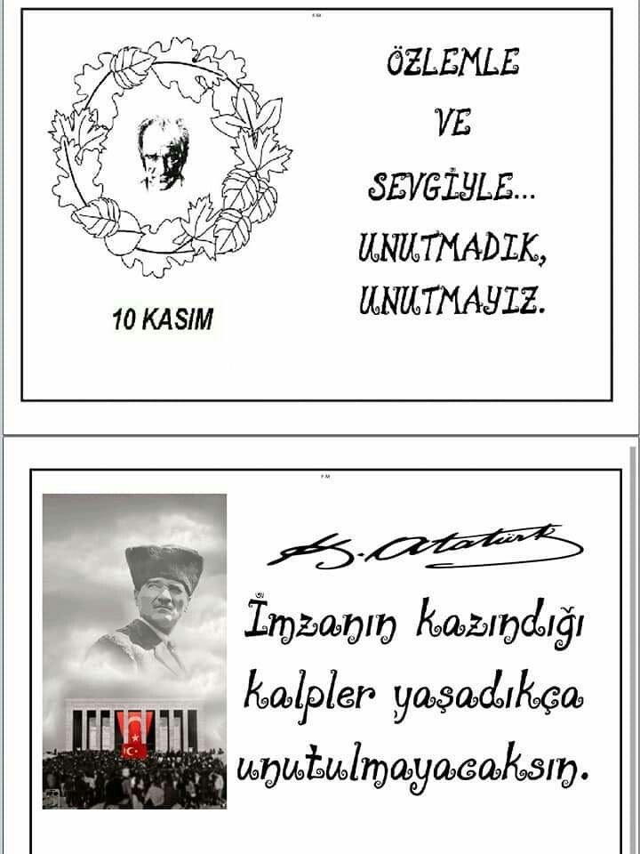 Ayse Arslan Adli Kullanicinin Ataturk Panosundaki Pin Egitim Sinif Faaliyetler