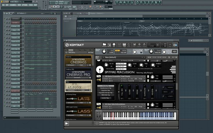 FL Studio with the project loaded