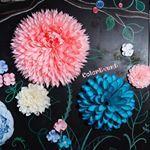 """246 Likes, 53 Comments - Фотозона Оформление Свадьба (@color_event) on Instagram: """"Президиум для молодых, из бумажных цветов #flowerbackdrop #paperdesign  #weddingagency #whiteawards…"""""""