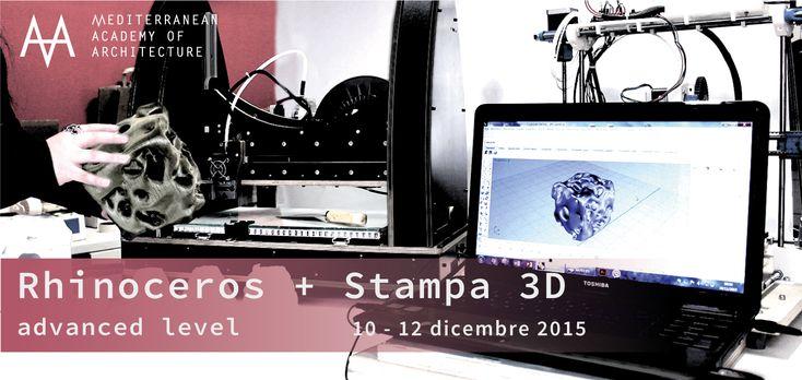Medaarch – Rhinoceros + Stampa 3D: dal 10 al 12 dicembre 2015 al Mediterranean FabLab