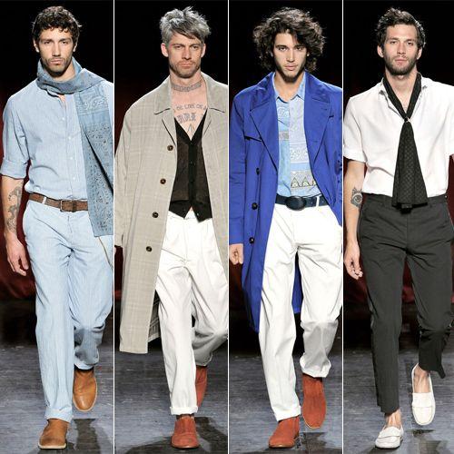 El año 2000 se caracterizo por la reducción de tallas, se dejo a un lado la holgadez, haciendo la parte de la cintura y el pecho mas estrecho en el caso de las camisas.
