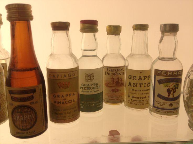 Poli museum and their impressive collection of miniature grappa bottles - Bassano del Grappa, Veneto
