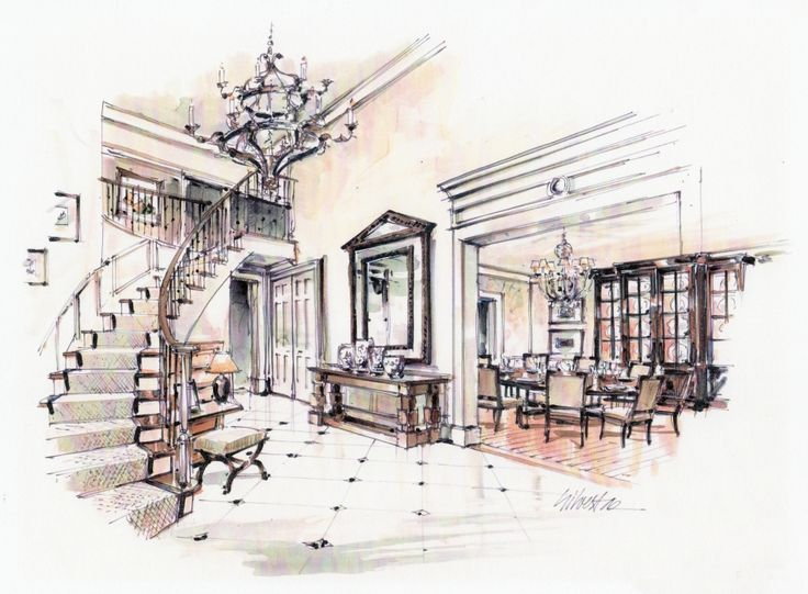 168 best render images on pinterest sketches for Interior designs sketches