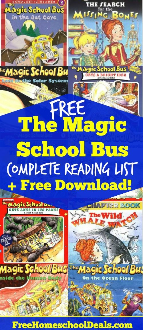 FREE The Complete Magic School Bus Reading List (+ Free Download!)