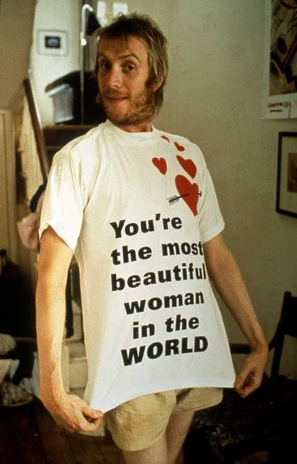 I LOVE SPIKE! This T-shirt makes me laugh: front: You're the most beautiful woman in the WORLD, back: Fancy a fuck? #NottingHill