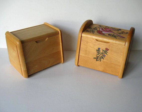 2 vintage wooden file boxes Recipe box by jewelryandthings2
