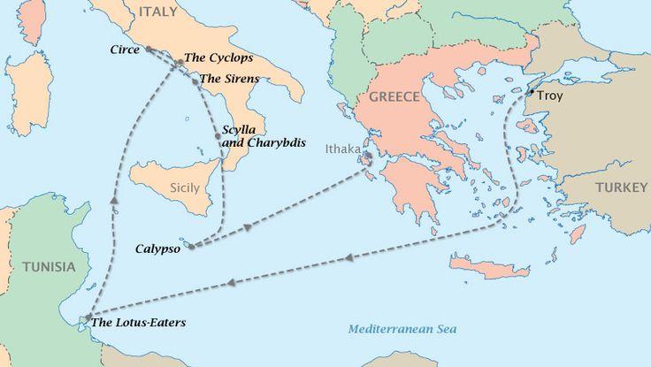 Odyssey (Noun) Long series of wanderings or travels