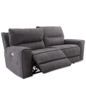 Genella Power Reclining Sofa with Power Headrest, Only at Macy's