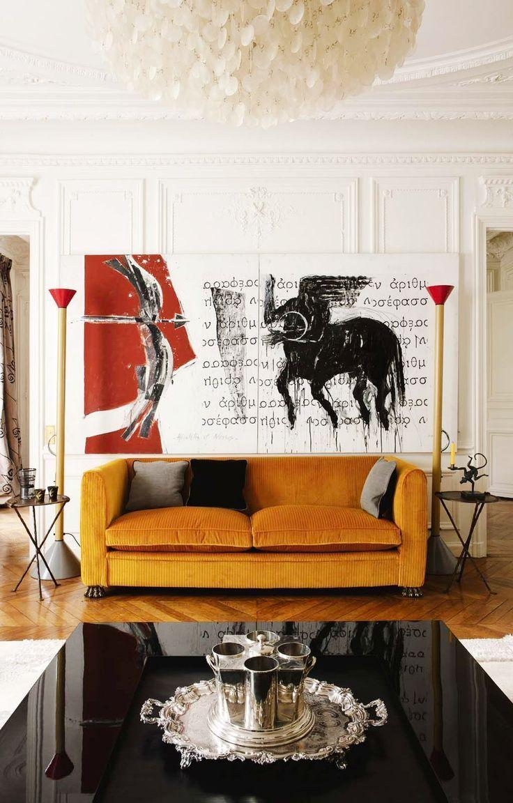 Best Orange sofa design ideas on Pinterest