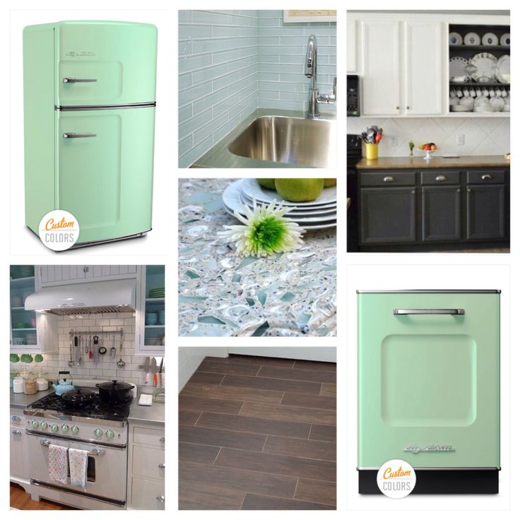 Kitchen Tiles Mint Green: My Dream Kitchen! Big Chill Appliances In White And Mint