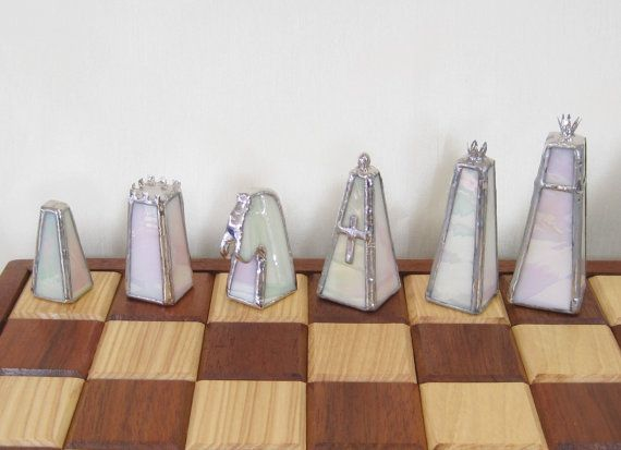 Stained Glass Chess Set Glass Chess Set Stained Glass Chessmen