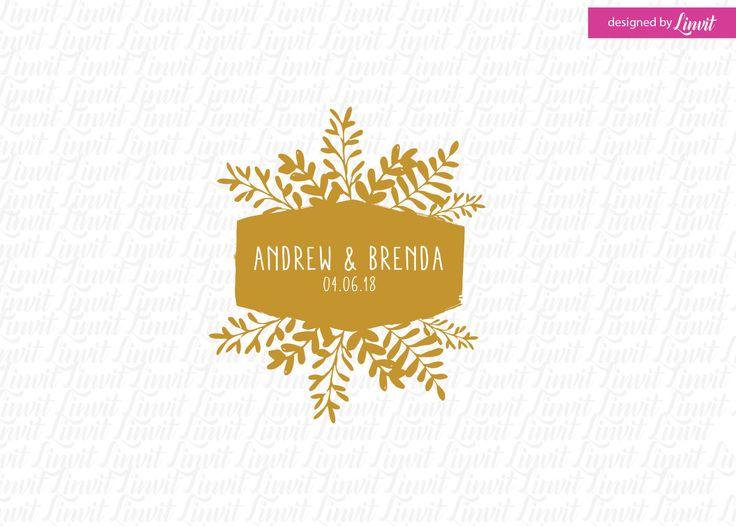 Floral Wedding Logo-wedding logo-wedding crest-custom wedding monogram-signo-monograma-monograma de la boda-signo de la boda-