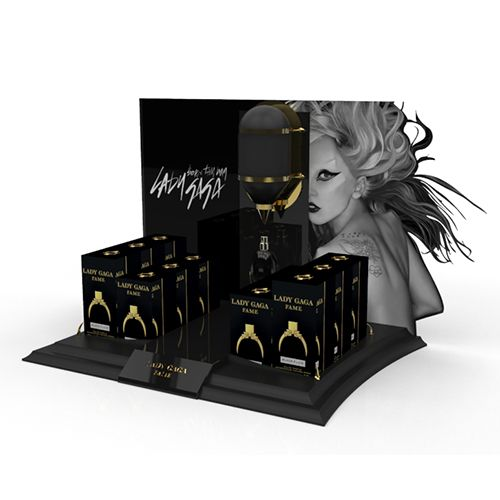 Lady Gaga  Counter Unit for Coty by Exposure Creative #counterunit #unit #display #pointofsale #pos #pop #design