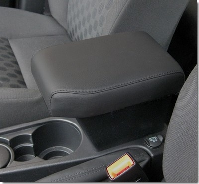 FREELANDER 2 (2007-2012) Adjustable Armrest with large storage in black Eco leather