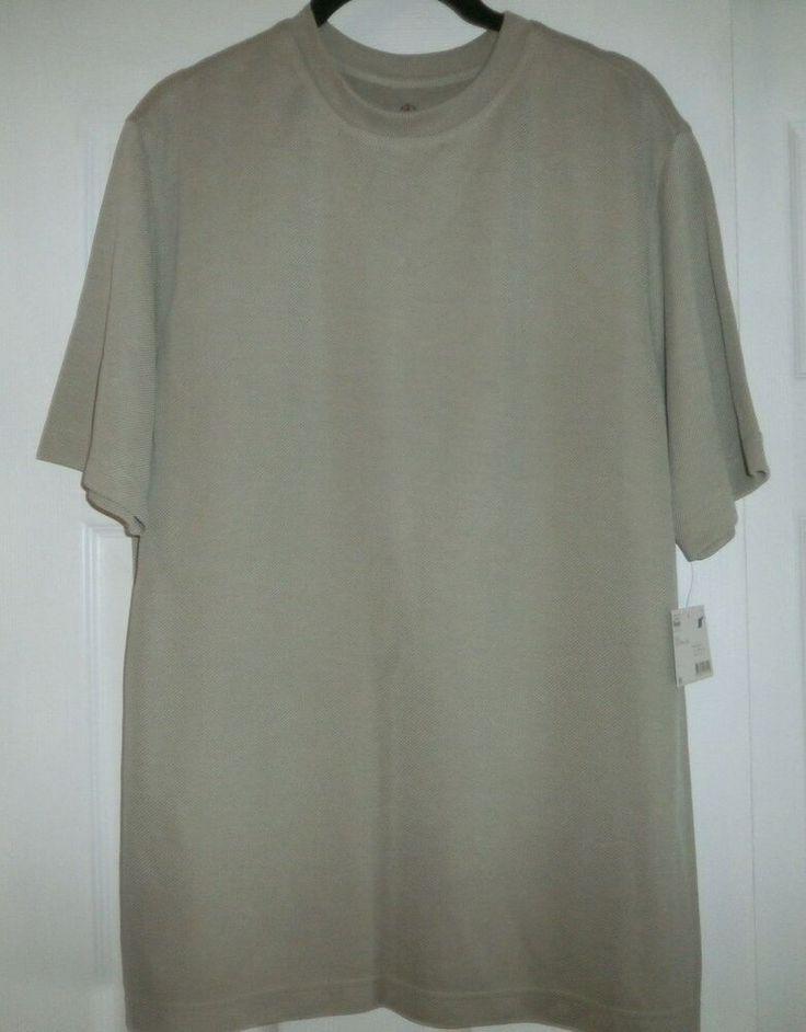 NEW COVINGTON BEIGE SHORT SLEEVE PULLOVER SHIRT SIZE MEDIUM #fashion #clothing #…