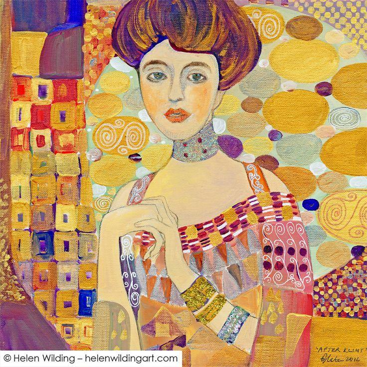 Inspired by Gustav Klimt - Helen Wilding Art