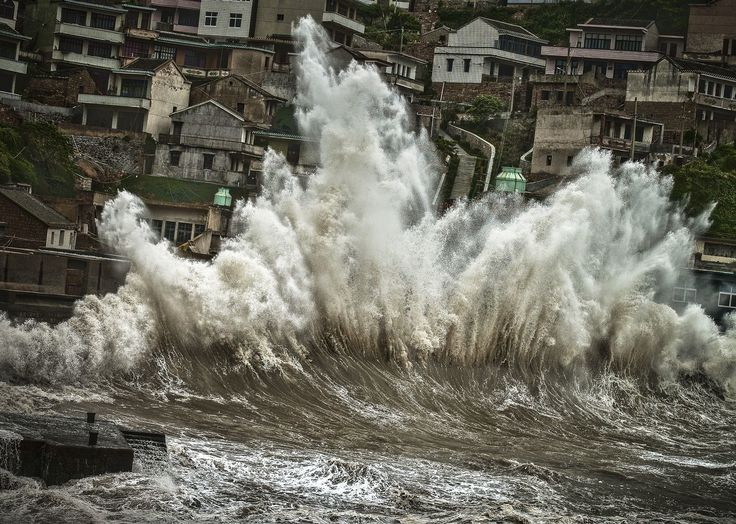 A wave amplified by a typhoon smashes onto the shores of Shengshan, Zhoushan City, China. Photo by Changming Liu PHOTOS: Prize-Winning Images Capture The Beauty Of Daily Life Around The Globe : Goats and Soda : NPR