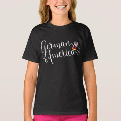#German American Entwinted Hearts T-Shirt - #cool #kids #shirts #child #children #toddler #toddlers #kidsfashion