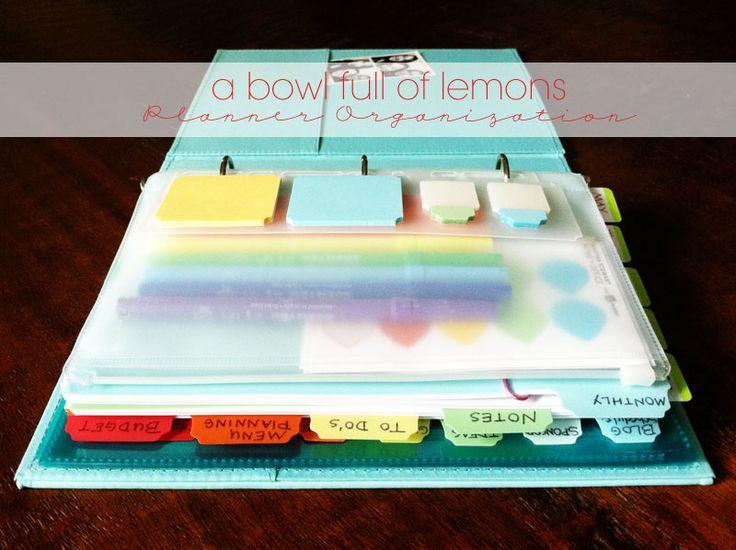 A bowl full of lemons.: Planner organization...