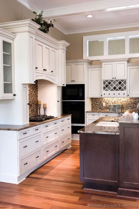 Traditional Two Tone Kitchen Cabinets HOME Kitchen