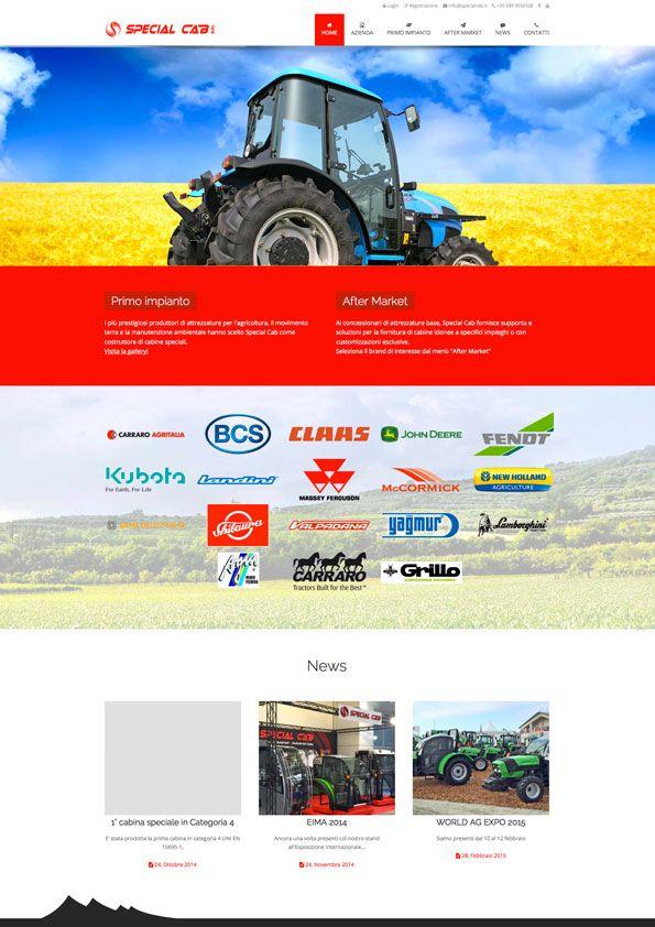 Special Cab - Homepage sito internet BtoB #web #design http://www.specialcab.it/it/
