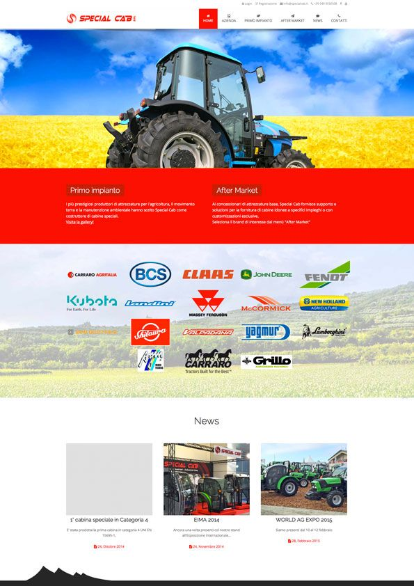 Special Cab - Homepage sito internet BtoB #web #design http://www.specialcab.it/it/