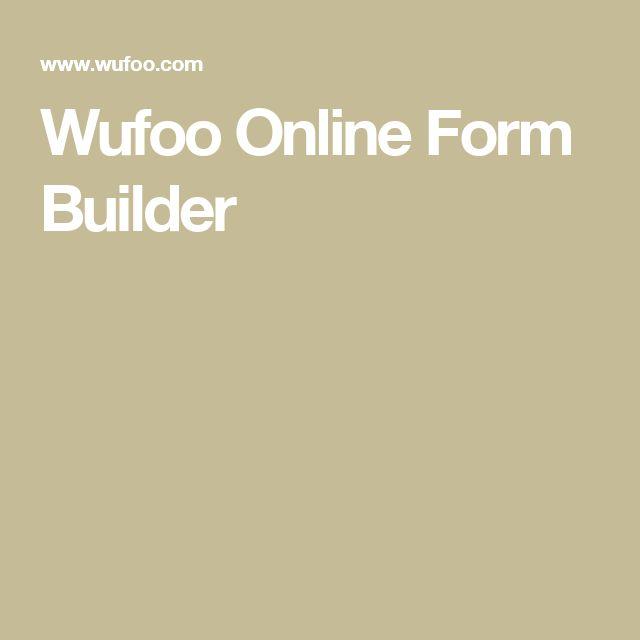 Wufoo Online Form Builder