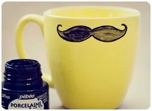 Dress up a boring porcelain mug with a cheeky mustache that brings some character to his morning #LincBestDad