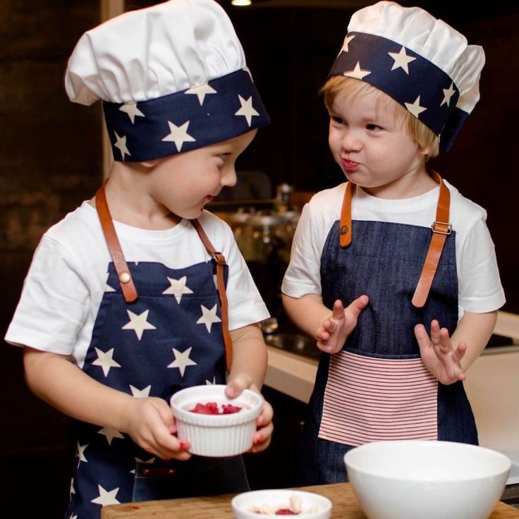Kids Apron  Cooking with kids can be messy but chefs hat and aprons help keeping the worst away and the kids love it!