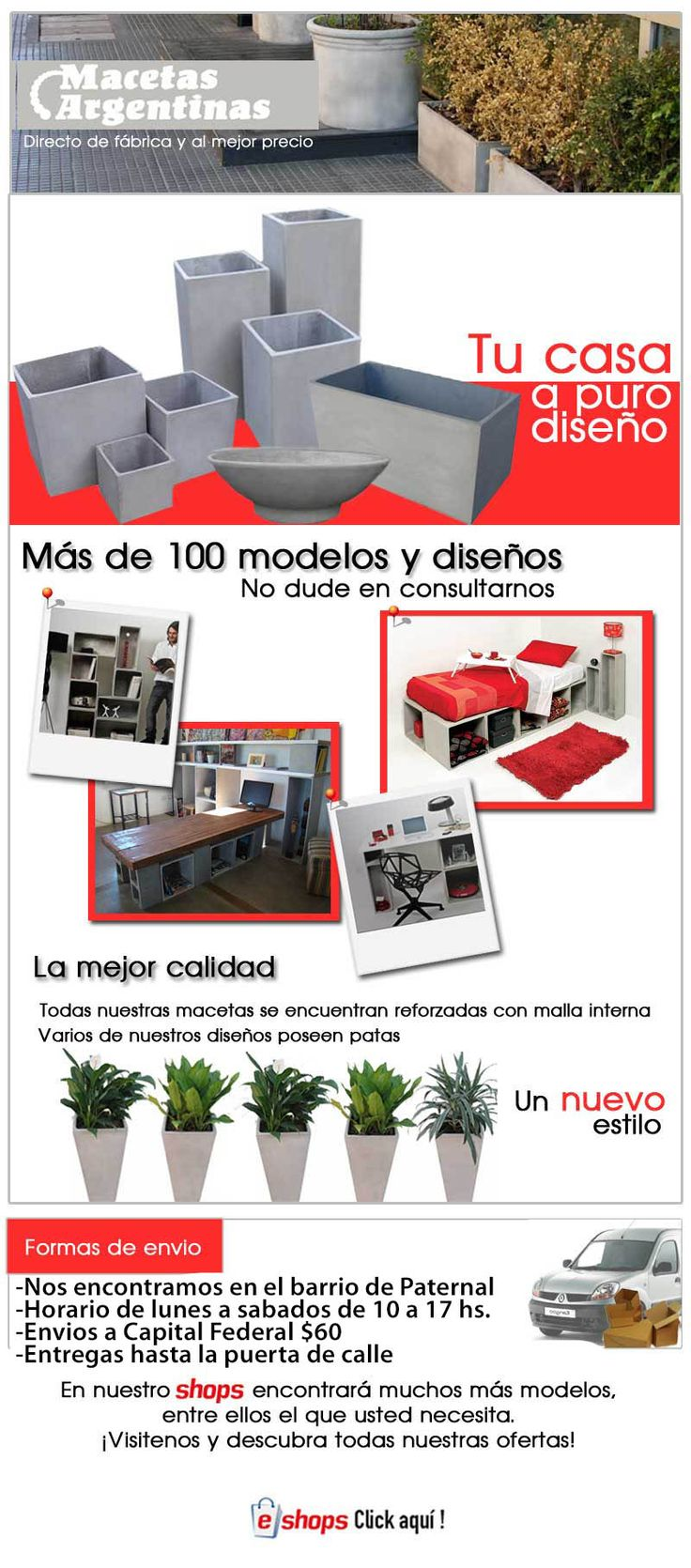 Macetas De Fibrocemento Esquineros 60x60x30 - $ 160,00 en MercadoLibre