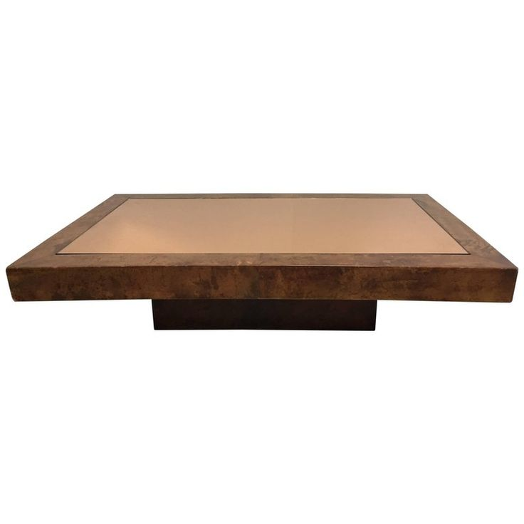 Aldo Tura Goatskin and Glass Coffee Table | From a unique collection of antique and modern coffee-tables-cocktail-tables at https://www.1stdibs.com/furniture/tables/coffee-tables-cocktail-tables/