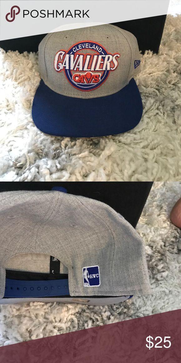 Retro cavs hat gray with blue brim Mint condition SnapBack New Era Accessories Hats
