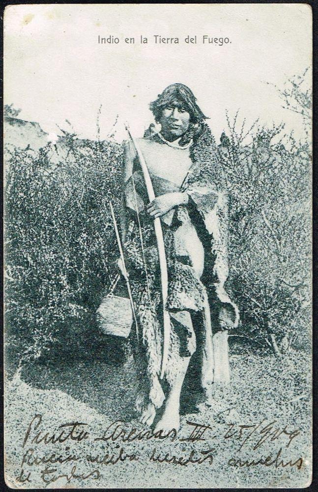 1210 CHILE ONA INDIAN TIERRA DEL FUEGO POSTCARD 1909