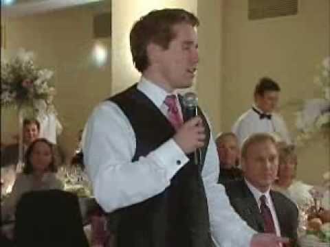 Funniest Best Man Speech...Funny Wedding Toast...1st Try