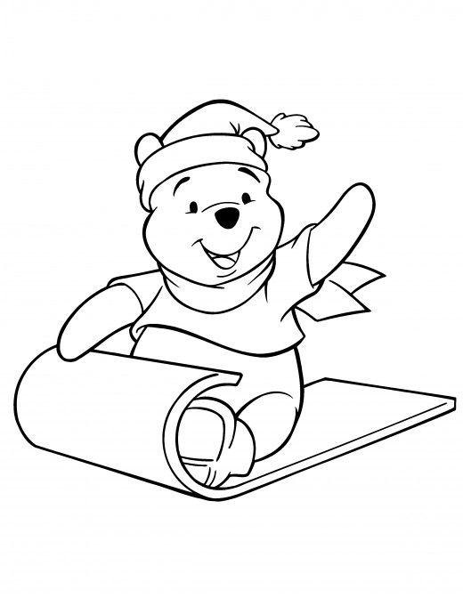 winnie the pooh christmas coloring pages   Winnie the Pooh Christmas Printables