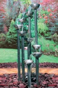 You could do this with pvc pipe copper pipe and old tea for Best water pipe for outside