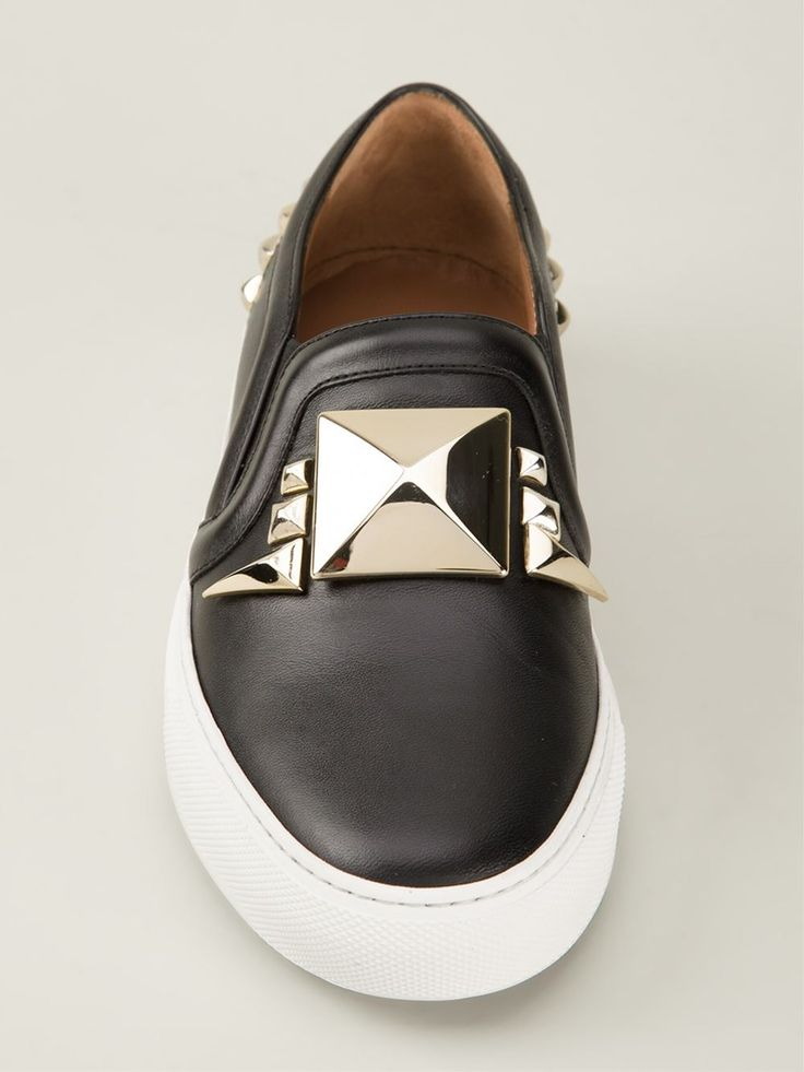 Black leather slip-on sneakers from Givenchy