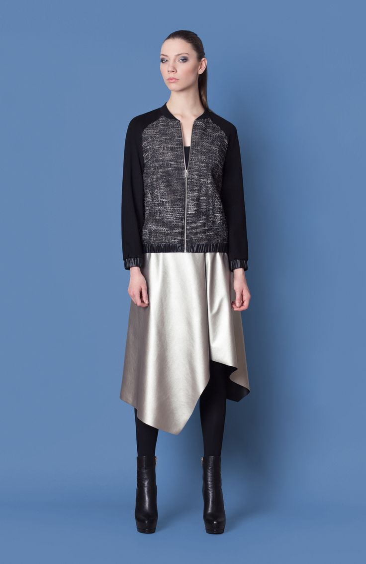 Cocoon Fall - Winter 2014-15 / Blu collection / Bomber Jacket & Silver Skirt