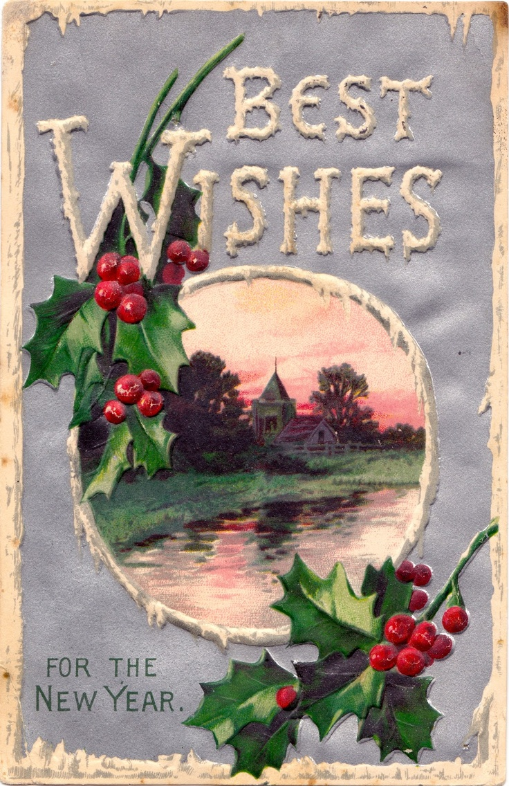 New Year's card  constancedenninger.blogspot.com  Vintage Grace