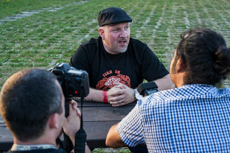 Dr. Ring Ding and Ska Delight crew during filming Ska Delight.