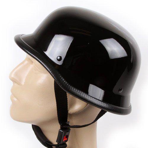 Low Profile German Chopper Half Helmet Fits Closer To Your Skull No Mushroom Looks True To Size Dura Motorcycle Helmets Half Half Helmets Black Motorcycle