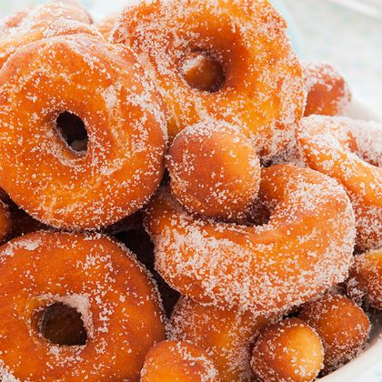 How about delicious homemade doughnuts.... Homemade Doughnuts Recipe from Grandmothers Kitchen.