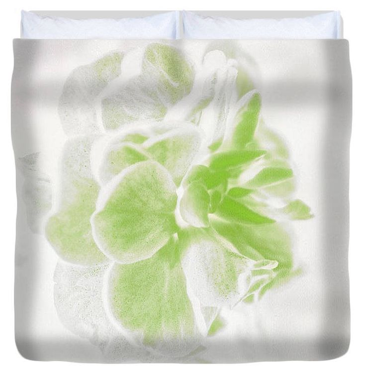 Unique Duvet Cover,White and Green Floral Duvet,Flower Designer Bedding,Bohemian Duvet,Boho Duvet,Comforter Cover,King,Queen,Full,Twin by HeatherJoyceMorrill on Etsy