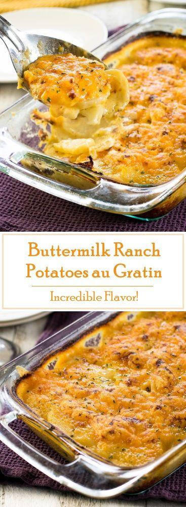 Buttermilk Ranch Potatoes au Gratin recipe