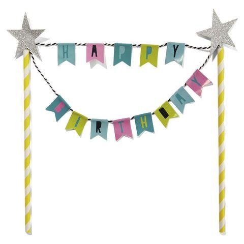 Cake Topper - Happy Birthday Bunting | Kmart