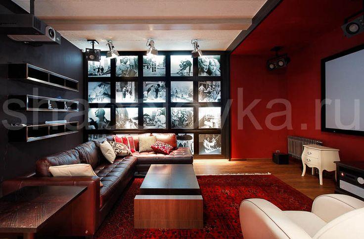 домашний кинотеатр - интерьер в современном стиле  Архитектурное бюро Шаболовка