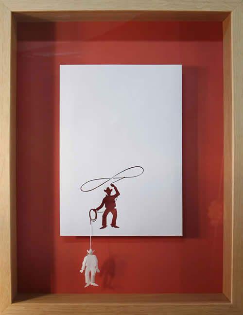 amazing paper art: Paper Cut, Cowboy, Peter O'Toole, Peter Callesen, Papercut, Paper Art, Paperart, Petercallesen, Paper Crafts