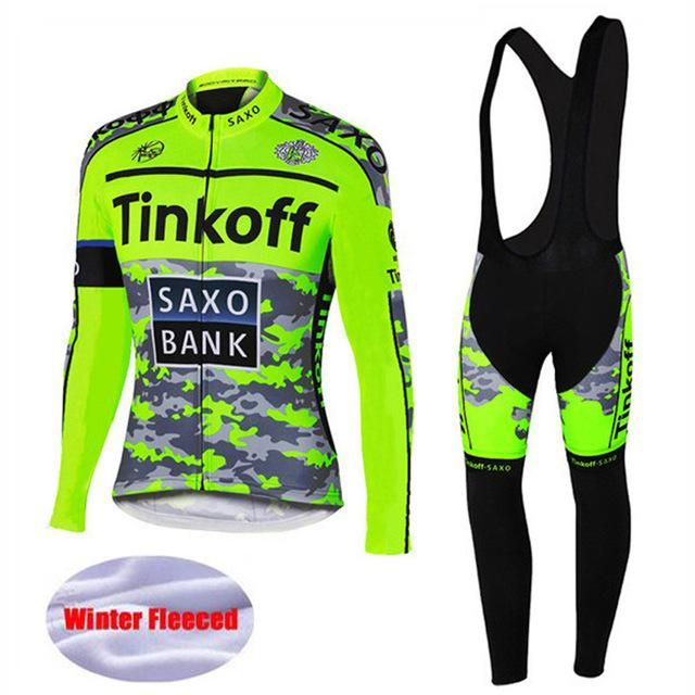 2016 Winter Thermal Fleece Pro Team Long Sleeve Tinkoff Cycling Jersey/Ropa Maillot Invierno Ciclismo Bicycle Cycling Clothing