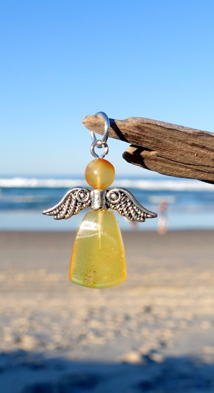 Baltic Amber Pendant, Angel, Guardian Angel Charm Pendant, Amber Jewelry